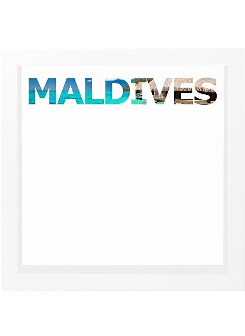 Decarthome Maldivler Anı Çerçevesi 23x23 cm Beyaz